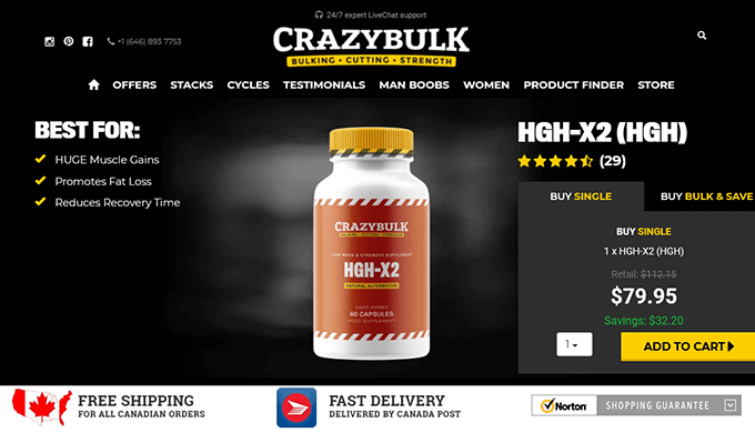 HGH-X2 Canada official website